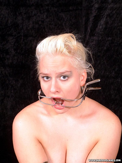 blonde bitch gets gagged and roped
